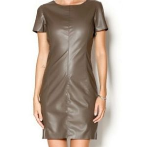 BB Dakota Brown Faux Leather Dress